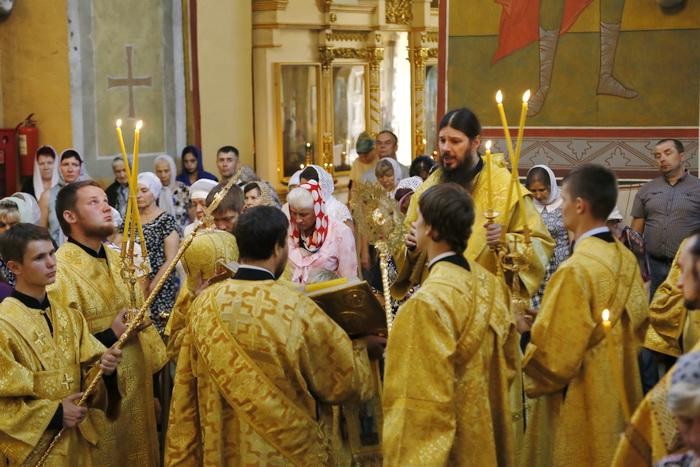 Всенощное бдение в Вознесенском кафедральном соборе Кузнецка