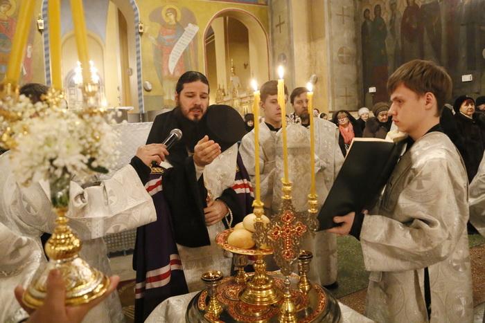 Всенощное бдение в канун праздника Крещения Господня в Вознесенском кафедральном соборе Кузнецка